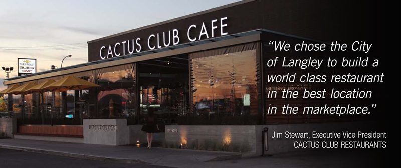 Testimonial from the Executive Vice President of Cactus Club Restaurants.