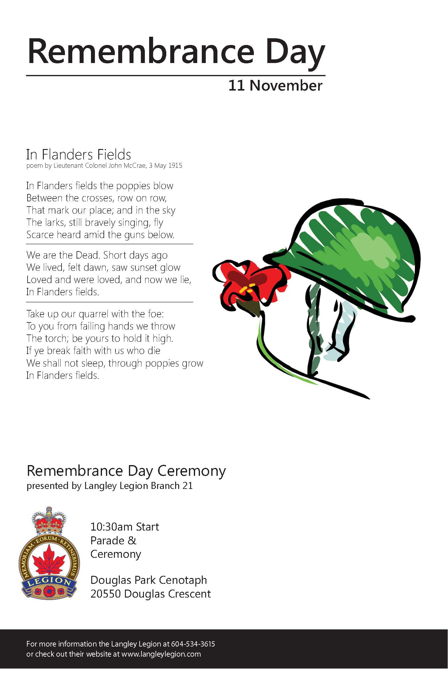 Remembrance Day | City of Langley