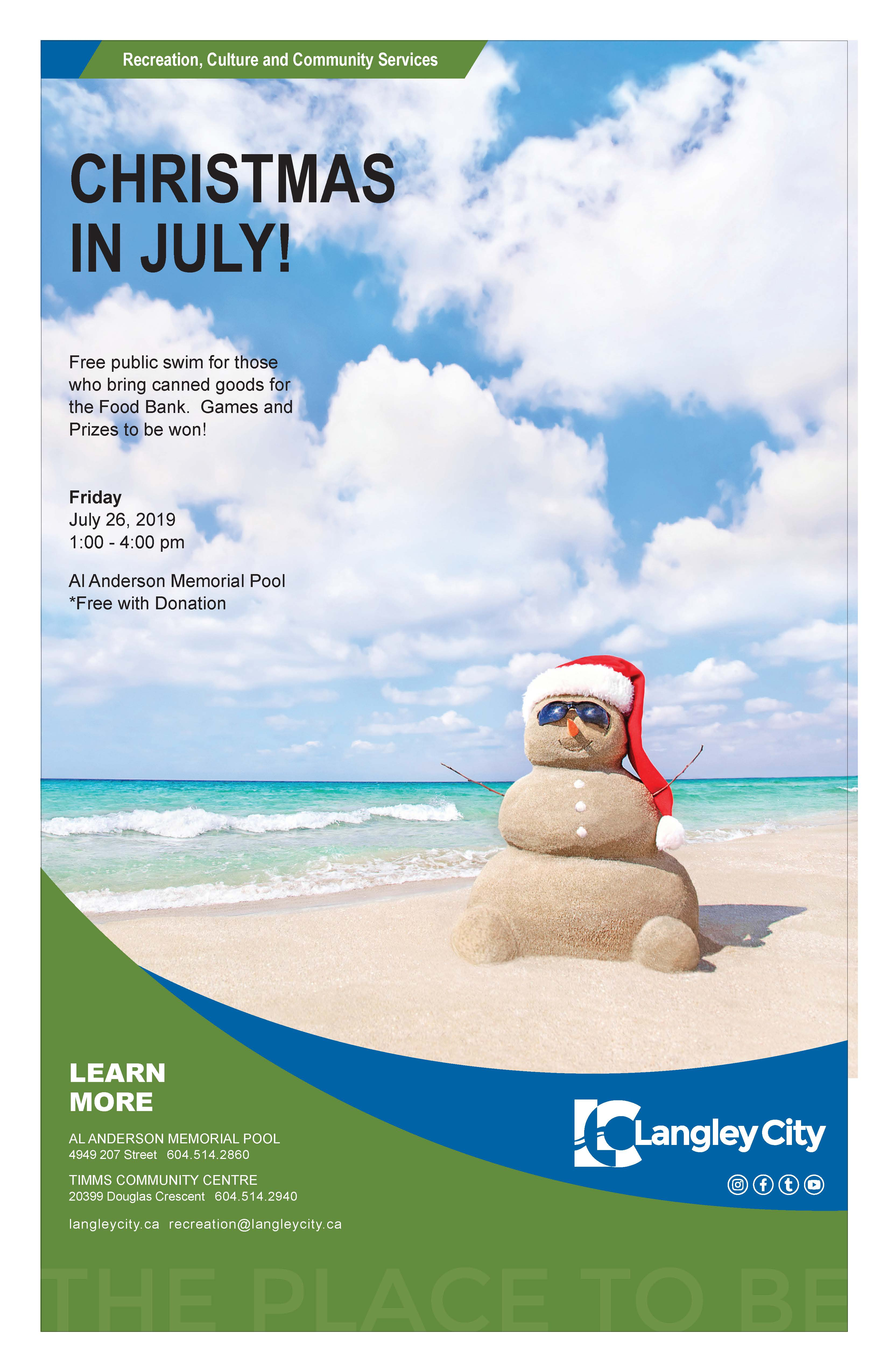 Christmas In July Swimsuit.Christmas In July City Of Langley